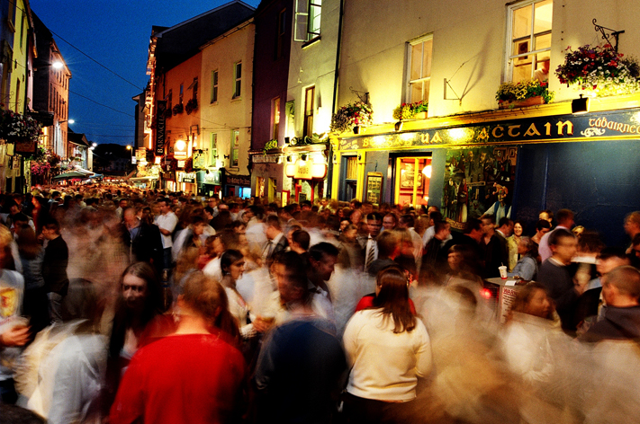 Galway City at night