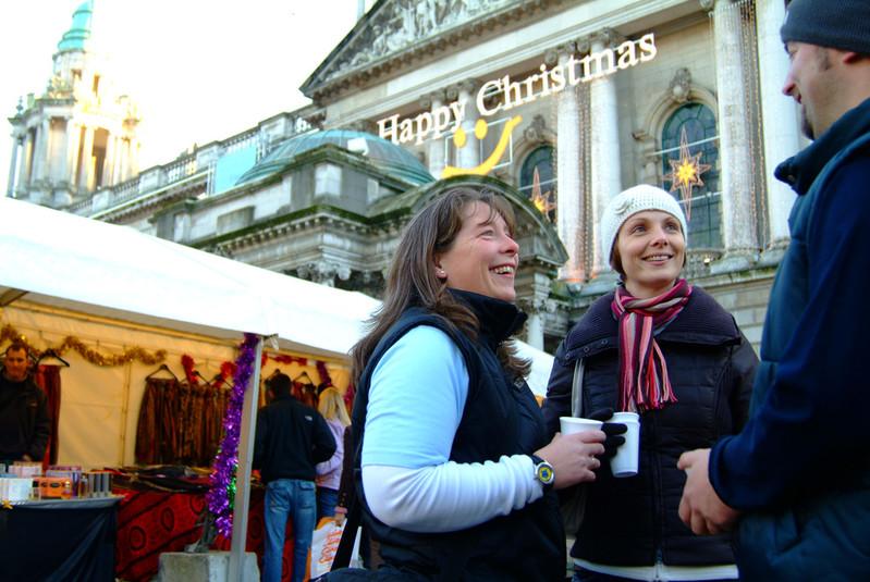 Gluhwein at Belfast Christmas market