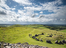 Stone circle at Loughcrew Cairns