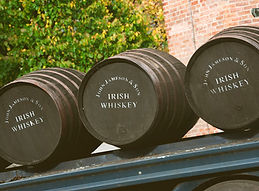Whiskey barrels at Jameson Distillery Midleton in County Cork