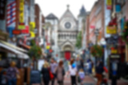 shopping street in dublin