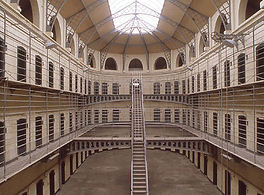 the cells in the main hall of Kilmainham Gaol