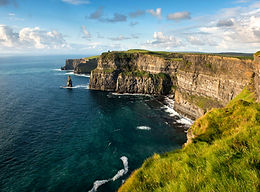 Cliffs of Moher stretch out into the distance
