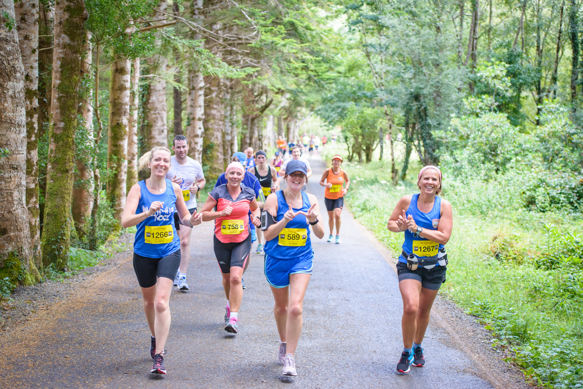 Forest section of Killarney Half