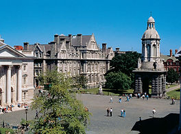 buildings of Trinity College in Dublin