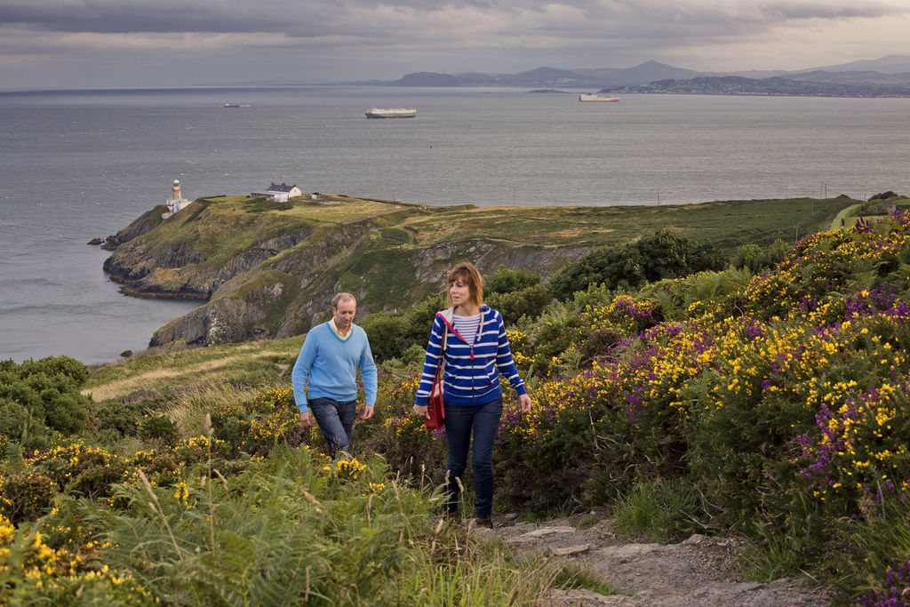 Two walkers on Howth Head