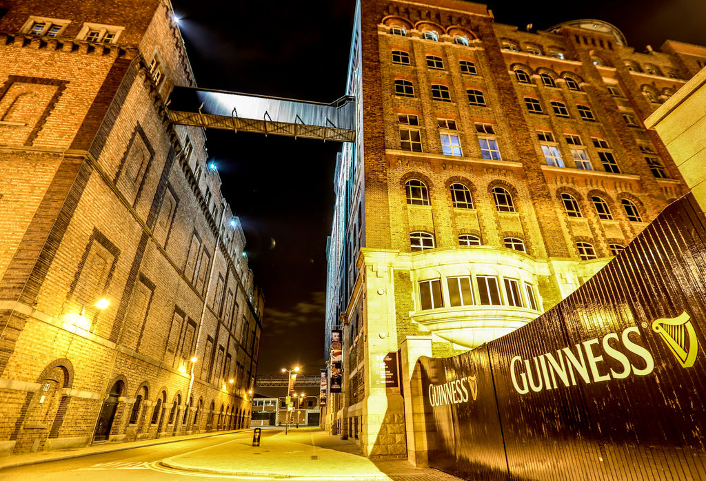 Guinness Storehouse at night