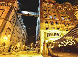 Guinness Storehouse lit up at night