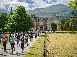 Killarney half marathon in front of Muckross House