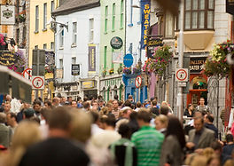crowded shop street in galway city
