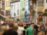 crowds on Shop Street in Galway