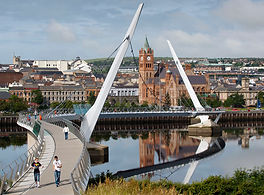The Derry Guildhall and Peace Bridge
