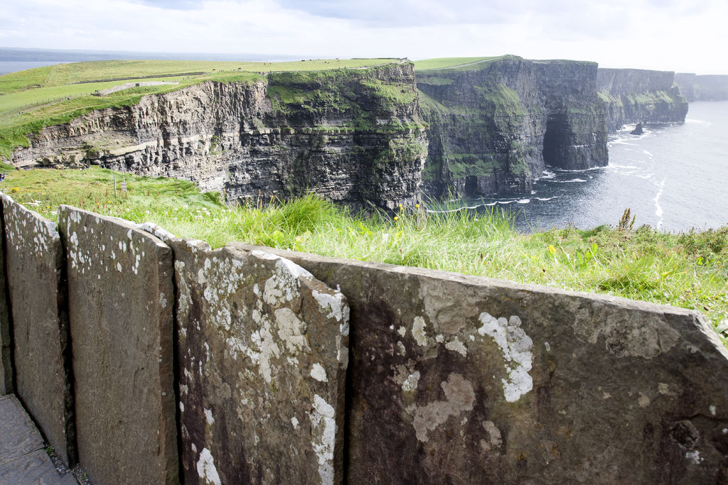 Concrete barriers at the Cliffs