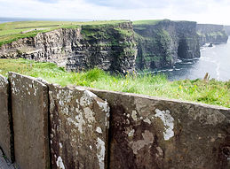 concrete barrier at the cliffs of moher