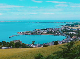 Carlingford from the footpaths above the town