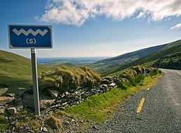 Wild Atlantic Way sign on Conor Pass