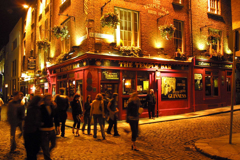 The Temple Bar on Temple Bar in Dubl