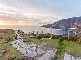 footpath and viewing point at the Slieve League Cliffs