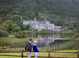 Kylemore Abbey reflects off lake