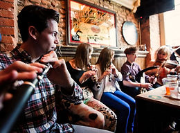 Traditional Irish session in an Ennis pub