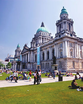 Belfast city hall on a clear day