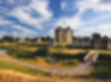 Trim Castle and cloudy sky