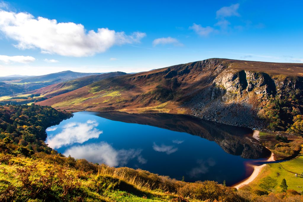 Lough Tay in Wicklow Mountains