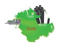 Visitor attractions in Ireland's province of Ulster, including Belfast, Derry, Londonderry and Donegal