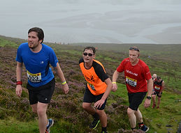 Runners near the top of Knocknarea during the Warriors Run