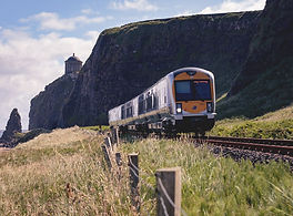 trainline below Mussenden Temple