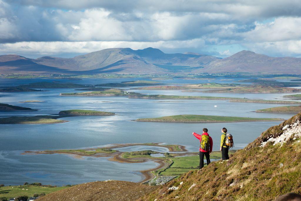 Croagh Patrick hikers
