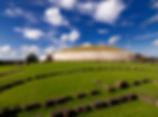 white structure of Newgrange passage tomb