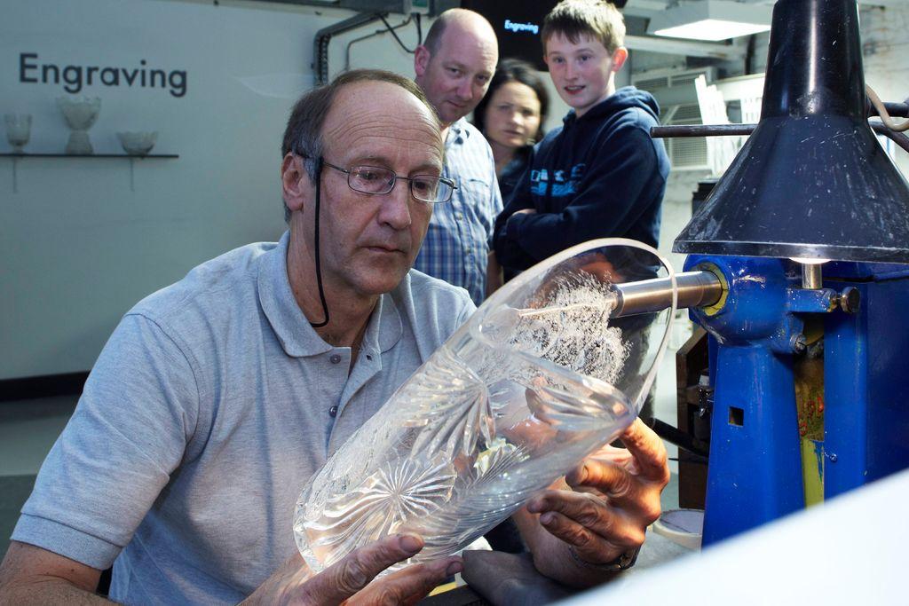 Master glass engraver