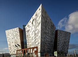 Unique bow shaped design of Titanic Belfast