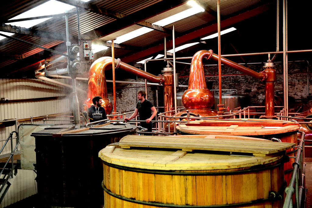 At work in the DIngle Distillery