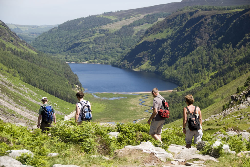 Glendalough hikers