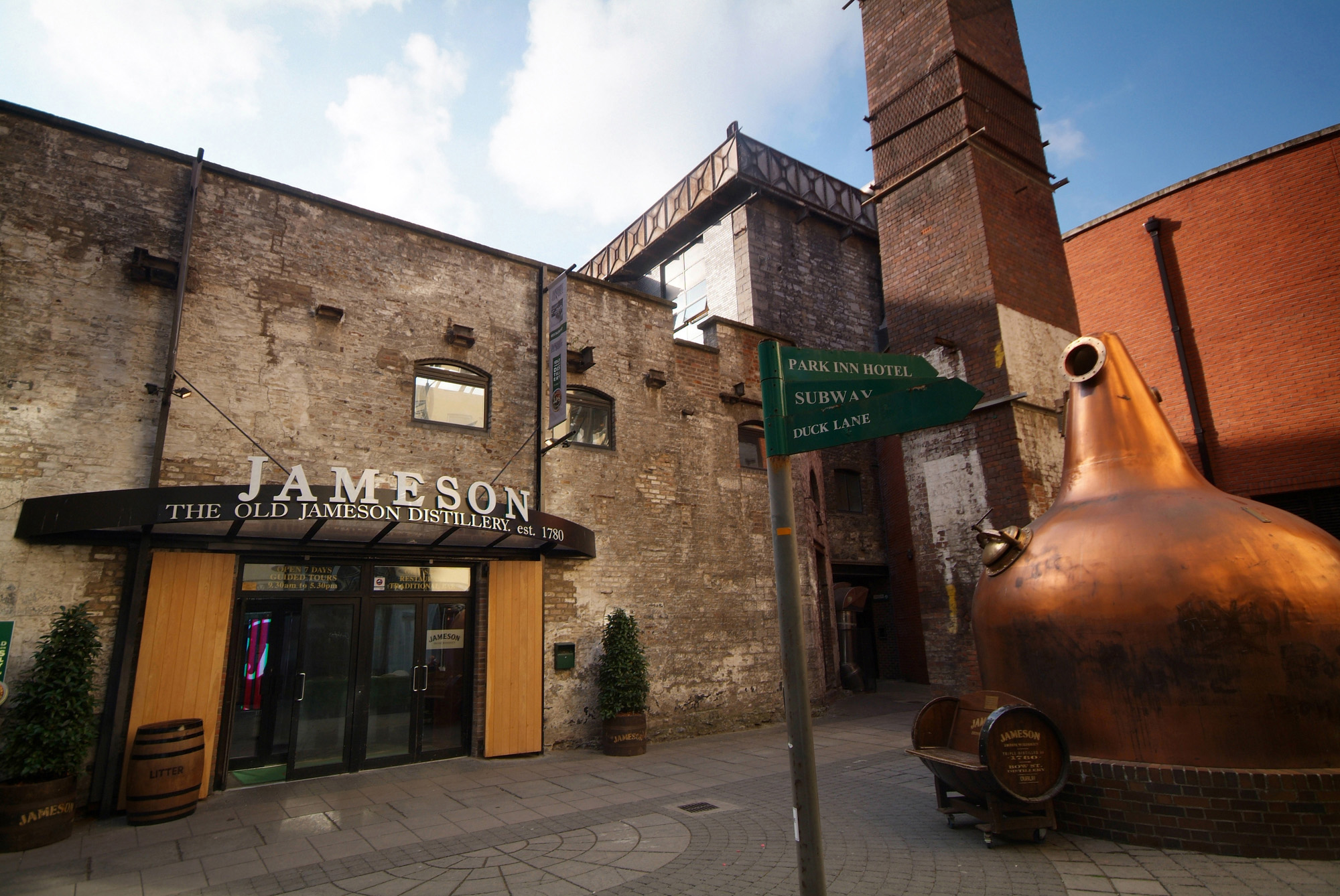 Old Jameson Distillery Bow Street