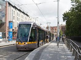 LUAS stop in Dublin