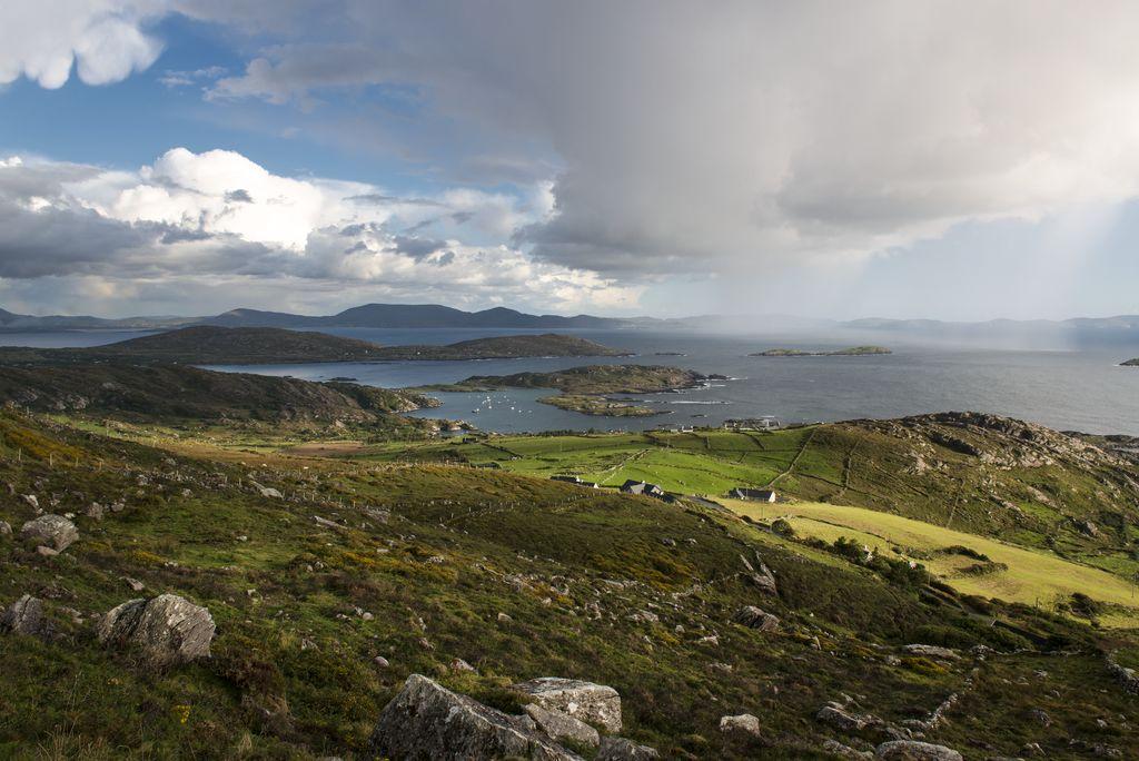 Coastal landscape on Ring of Kerry