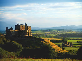 hilltop citadel of the rock of cashel overlooking the Tipperary countryside