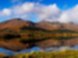 Connemara mountains reflect in lakes