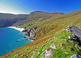 Keem Bay fom above on Achill Island