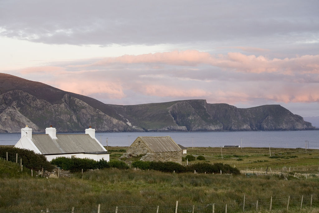 White houses on Achill Island
