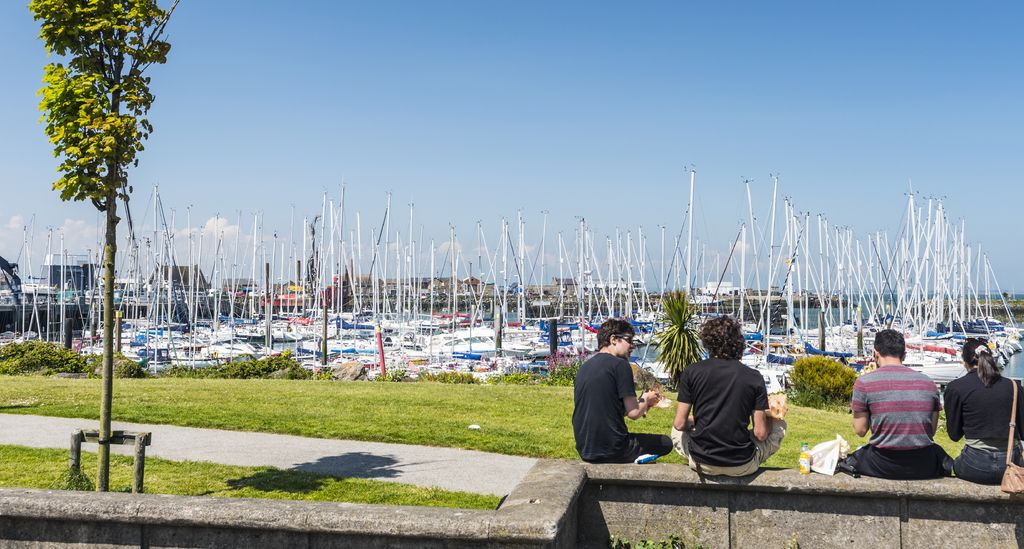 Howth harbour and boats