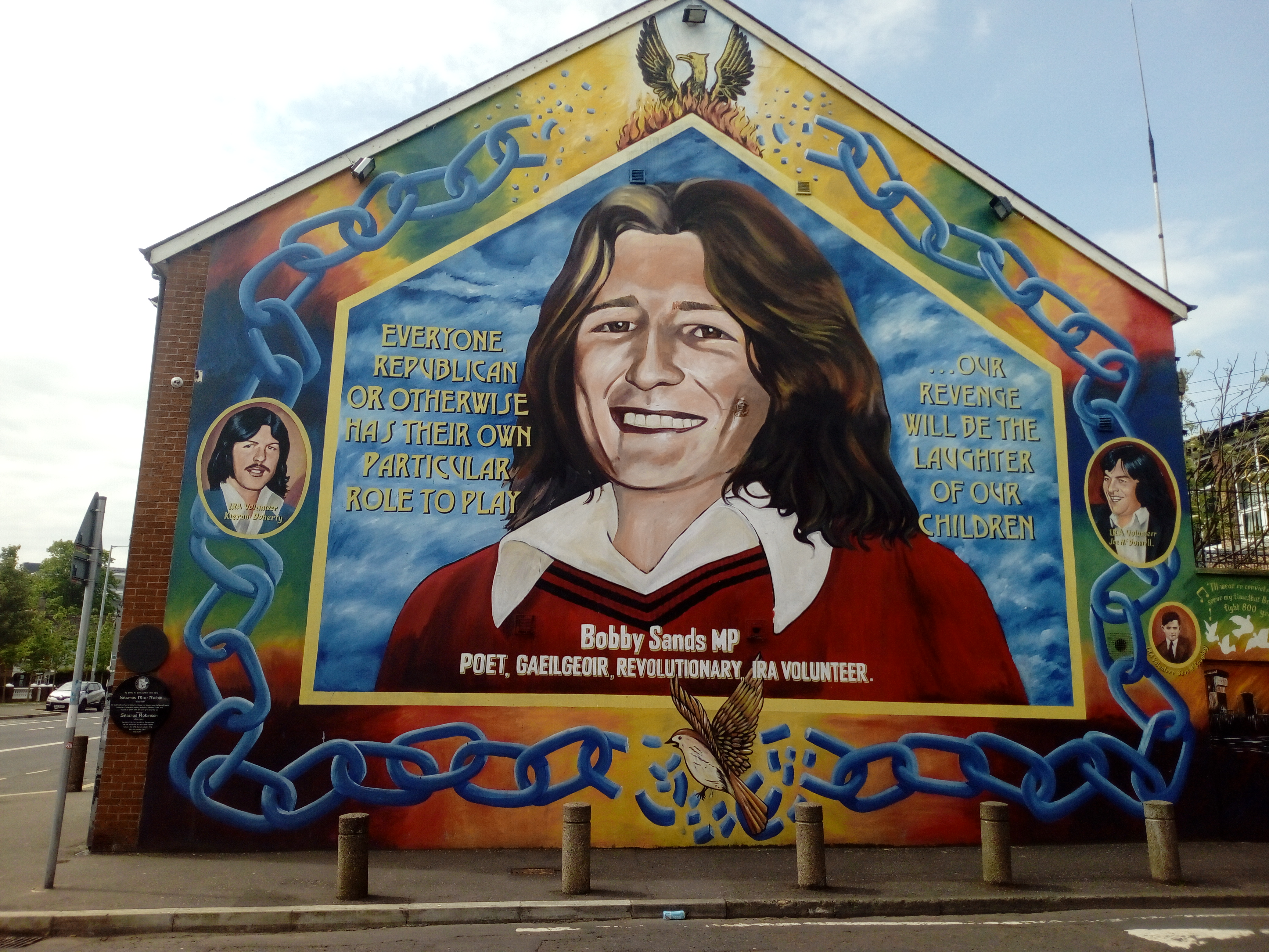 Bobby Sands mural on the Falls Road