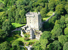 the keep of Blarney Castle amongst trees
