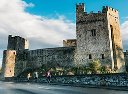 the battlements of Cahir Castle in Tipperary