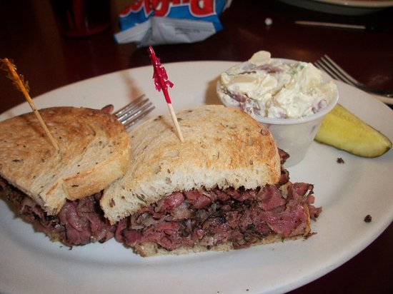 A Hot Pastrami Sandwhich