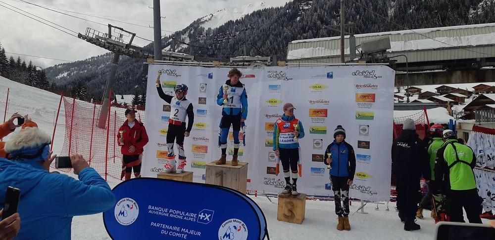 Hugo Scherrer - Coupe d'argent- 2ème en slalom spécial
