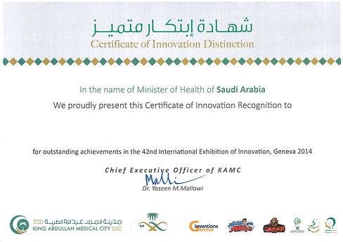 Certifcate of Innovation Distinction.jpg